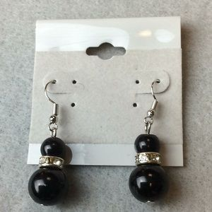 Jewelry - New Black Silver Earrings